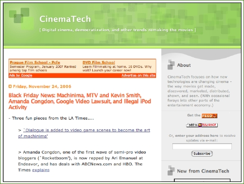 CinemaTech screenshot